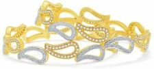 Indian Ethnic Gold Plated Bangles Jewelry Bridal Bracelets AD Beautiful Designer