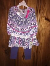 Bonnie Jean Purple Print 2 piece outfit 4,5,6