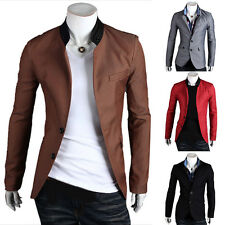 Fashion Luxury Men's Slim Fit Two Button Business Casual Blazer Jacket Suit Coat