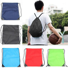 New Swimming Drawstring Beach Bag Sport Gym Waterproof Backpack Duffle Sack Bag