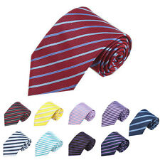 Multi-Color Men Boy Party Necktie Stripe Silk Jacquard Woven Formal Necktie