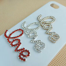 NEW Love Letter With Gems/ Rhinestone Cell Phone Decoration