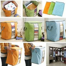 Underbed Pillow Blanket Non Woven Organizer Storage Bag Clothing Pouch Holder