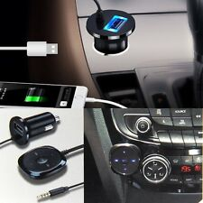 Wireless Bluetooth 3.5mm Stereo Music Audio Receiver USB Charger Adapter Car Kit