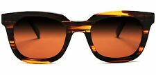 Polarized Manhattan Wayfarer Fashion Sunglasses Brown Orange