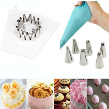 Cake Decorating Stainless Steel Nozzles Pastry Tips Piping Icing Bag Coupler