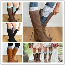 Cuffs Trim Leg Warmers Boot Socks Lace Toppers Boot Covers