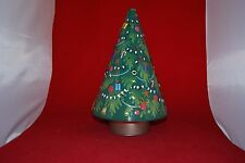 Christmas Tree Biscuit Tin. Musical. Rotating. Empty!