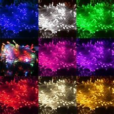 10M 100 LED Chaser String Fairy Lights Indoor Outdoor Xmas Wedding Party CYBD