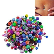 Sexy Navel  Belly Button Ring Stainless Acrylic Body Piercing Barbell Bar