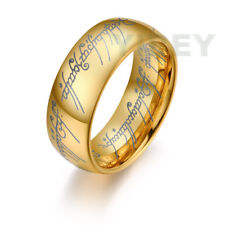 Tungsten The One Ring LORT 18K Gold Lord of the Rings Bilbo Hobbit wedding Band