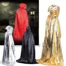New Fabric Hooded Cape Halloween Costume Fancy Dress Witches Long Cloak