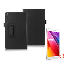 Stand Leather Case Cover+3x LCD Film F ASUS Zenpad Z380KL/Z380C 8 inch Tablet PC