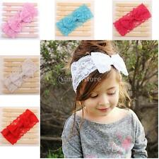 Wholesale Lovely Solid Baby Girls Lace Floral Bowknot Headband for Photo Props