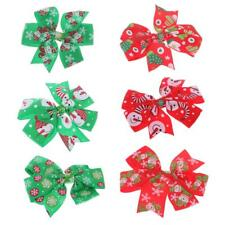 5pcs Wholesale Snowflake Snowman Hair Bow Clips Kids Girls Hair Accessories Gift