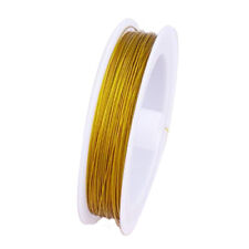 90 Metres Tigertail Wire Beading Wire Cord Thread DIY Craft Silver / Gold Strong