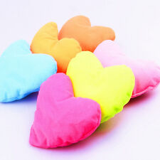 1PC Home Kids Bed Pink Heart-shaped Pillow Creative Plush Pet Dog Cat Toy abca