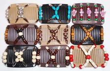 Double Magic Mini Hair Combs, African Style Butterfly Clips, Colorful Beads, MC7