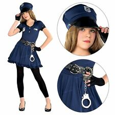 Teen Girls Police Officer Cop Cutie Book Week Fancy Dress Party Costume LAPD New