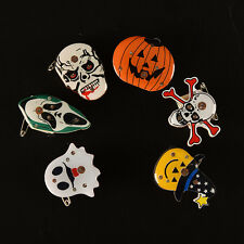 Halloween pumpkins Ghost LED Flashing Light Up Badge/Brooch Pins Party Gifts abc