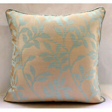 "Leafy Heaven - Blue Jacquard Weave 14""x14"" Pillow Covers Decorative TAPESTRY EDH"