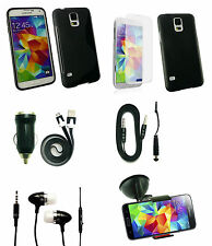 Accessory Pack for Samsung Phones- Car Charger Case Holder Headphones Aux & More