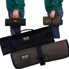 Waterproof Pocket Roll Carry Case 10 Pockets Pouch Repairing Tool Kit Bag Case