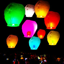 20/50pcs White&Colorful Paper Chinese Lanterns Sky Fly Lamp Wish Party Wedding