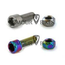 Titanium Seat Post Bolt and Nut Armour Bikes oil slick silver