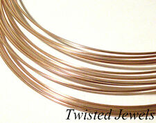 0.5oz 14K Rose Gold-Filled HH HALF-ROUND Jewelry Wire 16 18 20 21 22 24 GA Gauge