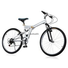 "26"" Folding Aluminum Mountain Bicycle 6-Speed Shimano FOLDABLE Bike #CLSV"