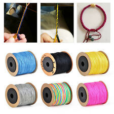 0.8mm 100m Nylon Cord Beading String Thread Rattail Macrame Braided Chinese Knot