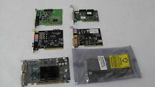 Joblot/Bundle 6 Desktop Internal Cards Soundcard Graphics Adapter Computer PC