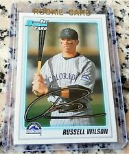 RUSSELL WILSON 2010 Bowman Rookie Card RC SEATTLE SEAHAWKS ROY Superbowl Ring