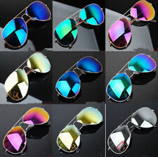 Unisex Women Men Vintage Retro Fashion Mirror Lens Sunglasses Glasses LY