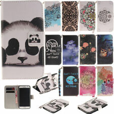 Wallet Folding Case for Samsung Galaxy S7 S6 Edge S5 Various Phones Stand Cover