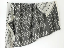 Black & White Indian Blanket Boho Throw | Aztec Picnic Blanket Bach Beach Towel