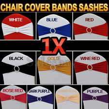 New Lycra Spandex Chair Cover Bands Sashes With Buckle Wedding Event Banquet