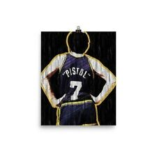 Pete Maravich The Pistol Basketball Poster Print