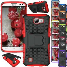 For LG Optimus Zone 3 / K4 / Spree Case Hybrid KickStand Armor Hard Phone Cover