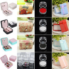 Jewelry Organizer Bowknot Necklace Ring Earring Box Display Storage Gift Boxes