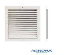 Grille Fixed White Aluminium Weather Louvre Duct Extractor Fan Ventilation Wall