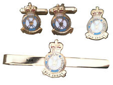 RAF Regiment Royal Air Force Cufflinks, Tie Clip Lapel Badge Set or Individual
