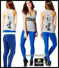 "ZUMBA INSTRUCTOR 2Pc.SET!! RacerBack Top Tank Classic ""Rock with Me"" + Leggings"