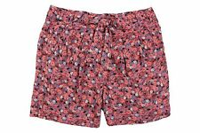 Free People Pink Blue Floral Self-Tie Belt Pleated Shorts Summer Women $78 NWT
