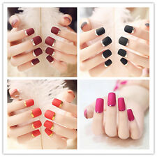 Fashion Matte False Full Fingernails Manicure Nails Fake Nails 24PCS