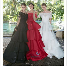 New Cake Satin Evening Dress Formal Bridesmaid Dress Prom Party Bridal Dresses