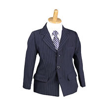 NEW Boys Kids Formal Suit Sold Separate Jacket Vest Pants 000–16 NAVY PINSTRIPE