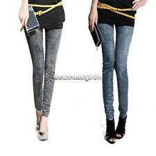 New Womens Skinny Stretch Jeans Jeggings Denim Leggings Pencil Pants Trousers