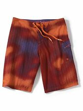 "new mens sz 33 oakley saba bank board short/boardshort red orange 22"" out seam"